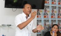 Jaime Cárdenas en su intervención con jóvenes líderes de Santa Marta.