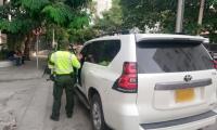 Controles en las vías de Santa Marta