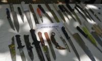 Armas blancas incautadas en operativos.