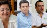 Martha Sáenz Correa; Alejandro José Lyons Muskus y Edwin José Besaile Fayad.
