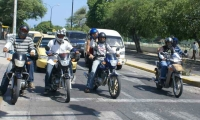 Los 15 y 30 de cada mes está prohibida la circulación de motos en Santa Marta.