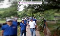 El candidato Juan Carlos Palacio dentro de la Unimagdalena