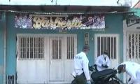Barbería donde ocurrió el atentado.