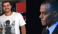 Cafú y su hijo Danilo