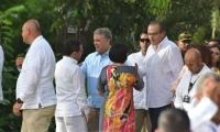 Encuentro entre el alcalde Rafael Martínez y el presidente Iván Duque.