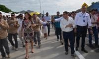 Marta Lucía Ramírez asistió a la inauguración del puente vehicular de Bavaria.