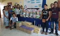 Las víctimas recibieron alimentos y kits de aseo.