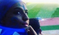 Sahar Jodayarí en un estadio