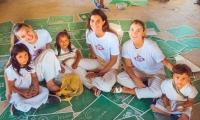 La modelo samaria Toya Montoya realizando actividades en la Sierra Nevada.