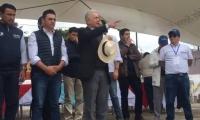 Álvaro Uribe en La Calera.