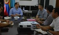 El encuentro se realizó en el despacho del Alcalde de Santa Marta