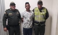 Yesel Alfonso Alvarado Vasco, capturado por hurto.