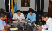 El alcalde Rafael Martínez se reunió con el viceministro de Vivienda, Víctor Saavedra.