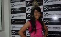 Keylin Daniela Rojas, actual Miss Teen Internacional y Reina de la Carrera Quinta en el Carnaval de los Niños del barrio Pescaíto