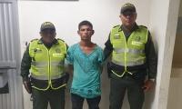Luis Andrés Salas Redondo, capturado por hurto