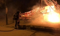 Kiosco quemado en Taganga