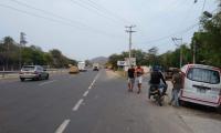 El accidente de la mujer ocurrió en la Troncal del Caribe.