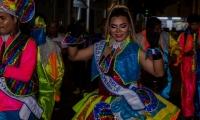 Reina del Carnaval Diverso en su toma a la ciudad.