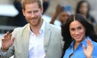 El principe Harry y su esposa Megan Markle.