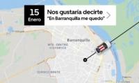 Foto del tuit de Uber sobre salida de Barranquilla.