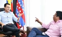 Carlos Caicedo y Pablo Vera sostuvieron su primera reunión.