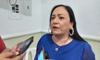 La diputada Claudia Patricia Aarón.