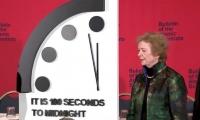 Ceremonia en la que se develó el reloj del apocalípsis 2020