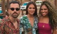 Mike Bahía, Greeicy Rendón y la artista samaria, Kamila Pimienta.