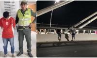 Captura de Manuel Martínez Fernández, tras la denuncia de robos en el nuevo puente Pumarejo.