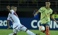 Eduard Atuesta, capitán de Colombia, puso el 2-1.
