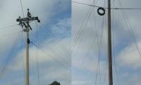 Zona donde se presentó el hurto de cables.