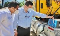 La entrega del analizador de gases se realizó en el campus principal de la Alma Mater.