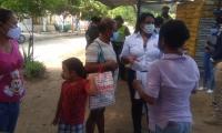 Jornada de socialización en los barrios de Santa Marta.
