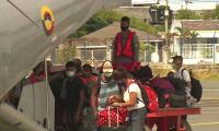 Llegada de sobrevivientes a San Andrés.