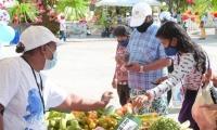 Feria agrícola en el municipio de Ciénaga.