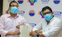 El acuerdo fue firmado entre el Presidente de la Asamblea y el Rector de la Universidad del Magdalena.