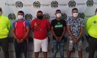 Los capturados presuntamente pertenecen a la banda 'Los Caballeros'.