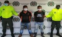 Presuntos extorsionistas capturados en Zona Bananera.