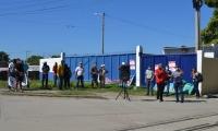 Algunos sindicalistas de Fenoco protestaron por los despidos.