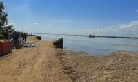 Lugar donde el río arremetió este miércoles.