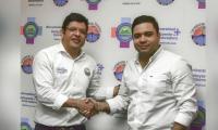 Rector de la Universidad del Magdalena, Pablo Vera y el alcalde de Ariguaní