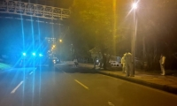 Puente peatonal donde el médico mató a los tres atracadores.