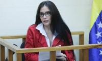 Aida Merlano durante la audiencia desde Venezuela.