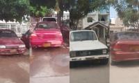 Carros abandonados en Ciudadela 29 de Julio