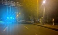 Este el puente peatonal donde ocurrieron los hechos.