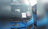 Así se verá la tablilla en los buses habilitados.