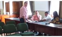 Este era el grupo de diputados que protagonizó la reunión.