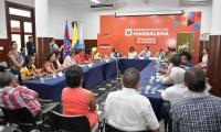 La reunión tuvo como objetivo la firma de la alianza departamental por la implementación del Pdet en los cuatro municipios que se benefician de este programa en el Magdalena.