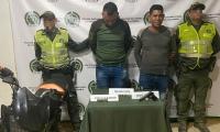 Hombres capturados en Guamal.