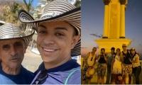 Junto a su familia el ganador de 'Yo me llamo' ha estado visitando los sitios turísticos de Santa Marta.